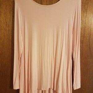 Ou Mei Shang Womens Pink tunic Sz Large